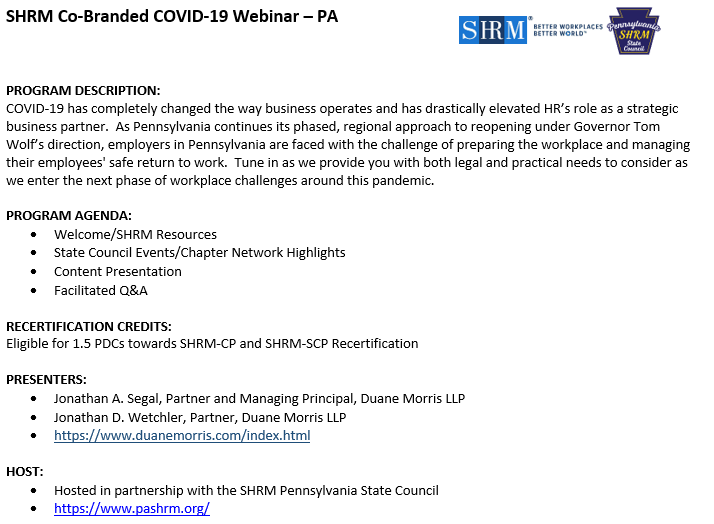 COVID-19 - Getting Pennsylvanians Back to Work: What ...